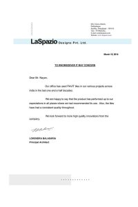 LaSpazio Designs Pvt. Ltd.
