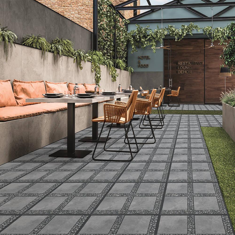 Pebble Stone Look Outdoor Tiles