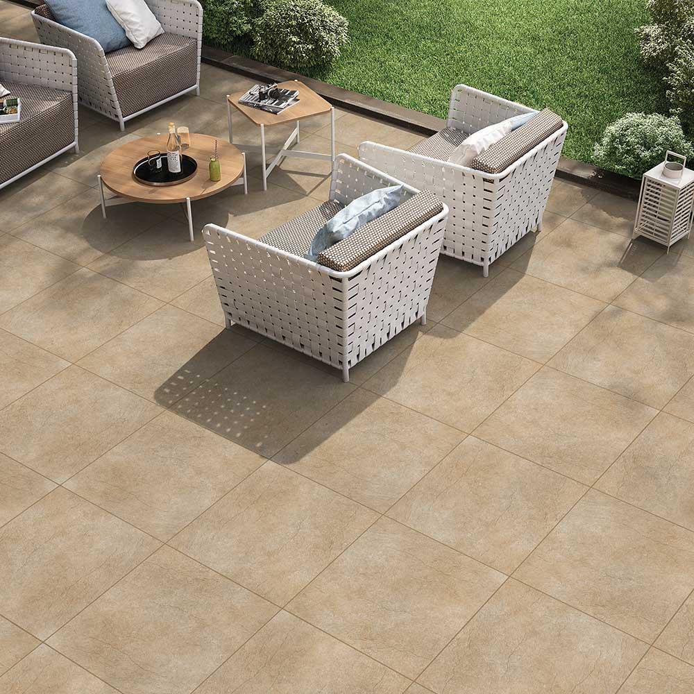 Plain Paver Look Outdoor Tile