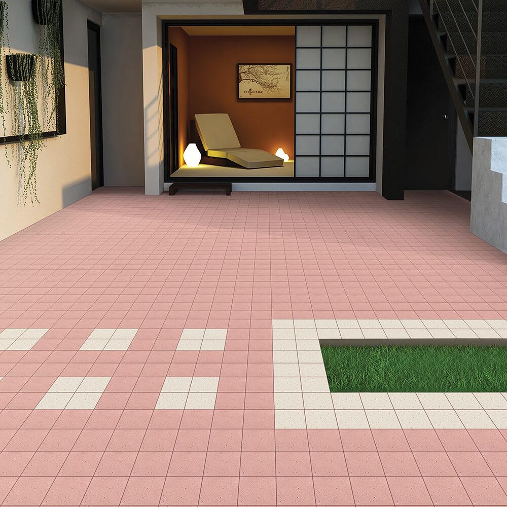 Outdoor Vitrified Tiles in Rainy Season